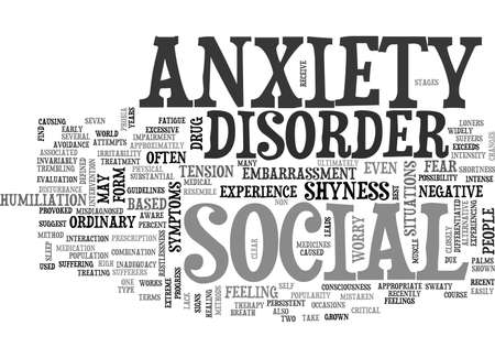 WHAT IS SOCIAL ANXIETY DISORDER TEXT WORD CLOUD CONCEPT Stok Fotoğraf - 79578901