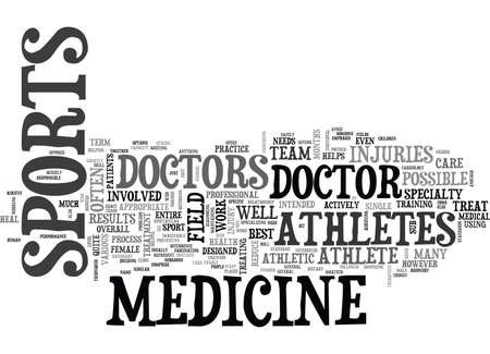 WHAT IS SPORTS MEDICINE TEXT WORD CLOUD CONCEPT Ilustração