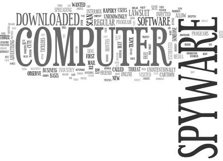 WHAT IS SPYWARE TEXT WORD CLOUD CONCEPT Illustration