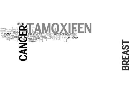 WHAT IS TAMOXIFEN TEXT WORD CLOUD CONCEPT