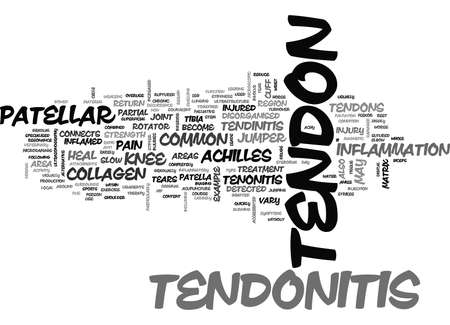 overuse: WHAT IS TENDONITIS TEXT WORD CLOUD CONCEPT Illustration