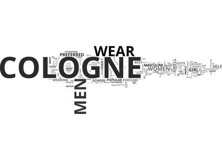 WHAT IS THE BEST COLOGNE TEXT WORD CLOUD CONCEPT Ilustração