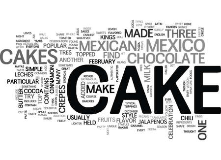 WHAT KIND OF CAKES ARE IN MEXICO TEXT WORD CLOUD CONCEPT Ilustrace