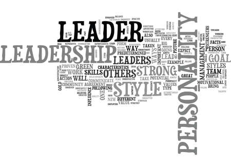 WHAT KIND OF LEADER ARE YOU TEXT WORD CLOUD CONCEPT