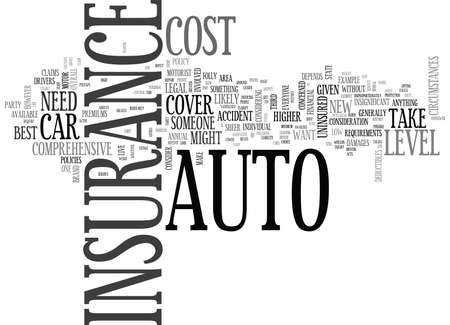 WHAT LEVEL OF AUTO INSURANCE DO YOU NEED TEXT WORD CLOUD CONCEPT
