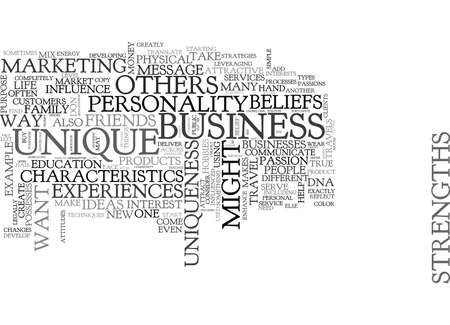 WHAT MAKE US UNIQUE AND DIFFERENT TEXT WORD CLOUD CONCEPT