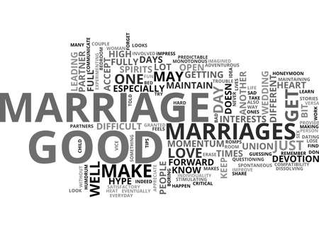 WHAT MAKES A GOOD MARRIAGE GOOD TEXT WORD CLOUD CONCEPT