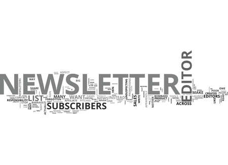 WHAT MAKES A GOOD NEWSLETTER EDITOR TEXT WORD CLOUD CONCEPT