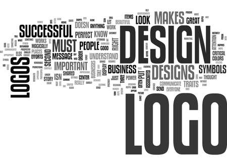 WHAT MAKES A LOGO SUCCESSFUL TEXT WORD CLOUD CONCEPT