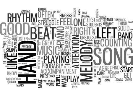 음악의 한 부분은 무엇이 좋은 노래 텍스트 단어 구름 개념을 만듭니다 일러스트