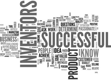 WHAT MAKES A SUCCESSFUL INVENTOR TEXT WORD CLOUD CONCEPT