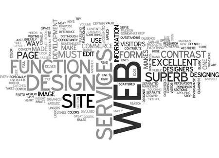 WHAT MAKES A WEB DESIGN SUPERB TEXT WORD CLOUD CONCEPT