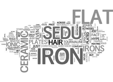 helps: WHAT MAKES THE SEDU FLAT IRON SO SPECIAL TEXT WORD CLOUD CONCEPT Illustration