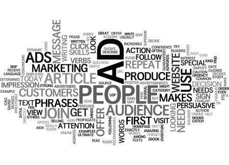 WHAT MAKES YOUR ONLINE ADS PERSUASIVE TEXT WORD CLOUD CONCEPT