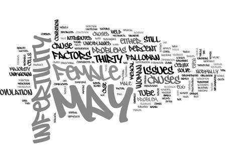 WHAT MAY CAUSE FEMALE INFERTILITY TEXT WORD CLOUD CONCEPT
