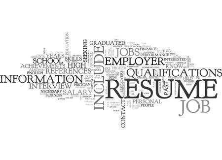 WHAT NOT TO INCLUDE IN YOUR RESUME TEXT WORD CLOUD CONCEPT