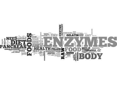 WHAT ON EARTH ARE ENZYMES TEXT WORD CLOUD CONCEPT Illustration