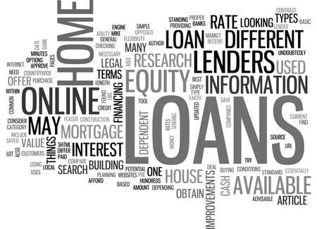WHAT ON EARTH ARE HOME EQUITY LOANS TEXT WORD CLOUD CONCEPT