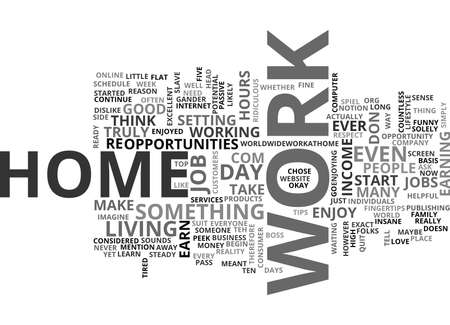 WORK FROM HOME TEXT WORD CLOUD CONCEPT