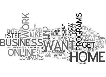 WORK FROM HOME WHY AND HOW TEXT WORD CLOUD CONCEPT
