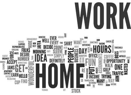 テキストの単語の概念はクラウドをお望みなら、裸で使用できます自宅で仕事します。