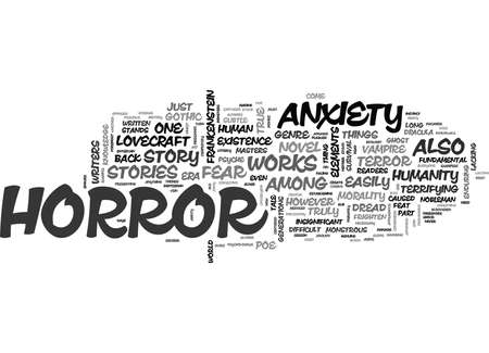 WORKS FROM THE TRUE MASTERS OF FEAR AND ANXIETY TEXT WORD CLOUD CONCEPT