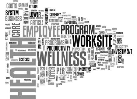 WORKSITE WELLNESS TEXT WORD CLOUD CONCEPT