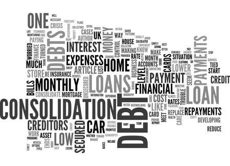 テキスト WORD クラウドの概念は借金が心配  イラスト・ベクター素材