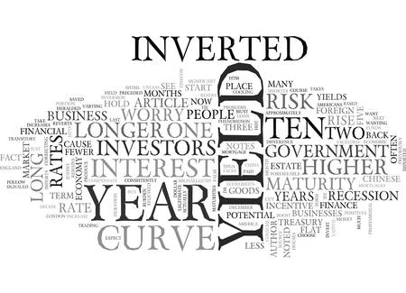 WORRIED ABOUT THE INVERTED YIELD CURVE TEXT WORD CLOUD CONCEPT