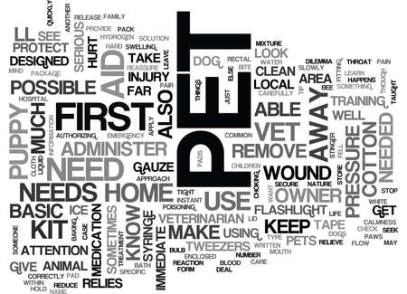 WOULD YOU KNOW WHAT TO DO IF YOUR PUPPY OR DOG FELL ILL TEXT WORD CLOUD CONCEPT