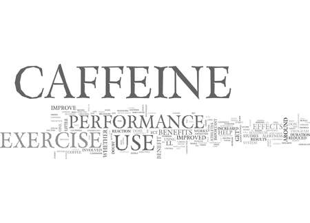 WOULD YOU LIKE A LITTLE CAFFEINE WITH YOUR WORKOUT TEXT WORD CLOUD CONCEPT 向量圖像