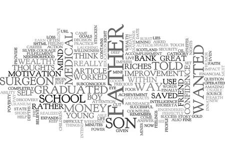 WOULD YOU RATHER BE WEALTHY TEXT WORD CLOUD CONCEPT Иллюстрация