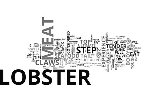 delectable: WRAP YOUR CLAWS AROUND THIS TIPS ON HOW TO EAT A LOBSTER TEXT WORD CLOUD CONCEPT