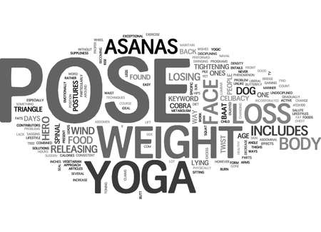 excess: YOGA FOR WEIGHT LOSS TEXT WORD CLOUD CONCEPT