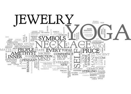 YOGA JEWELRY TEXT WORD CLOUD CONCEPT Illustration