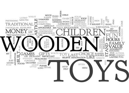 WOODEN TOYS ARE THE PERFECT TOYS TEXT WORD CLOUD CONCEPT