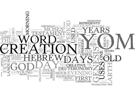 yom: WORD STUDY YOM TEXT WORD CLOUD CONCEPT