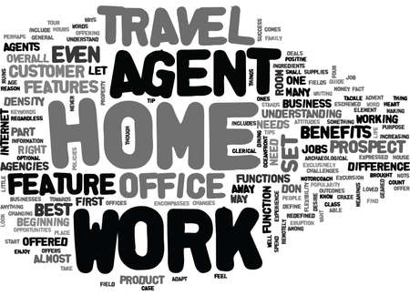 WORK AT HOME AGENT TEXT WORD CLOUD CONCEPT Illusztráció