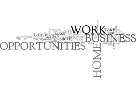 WORK AT HOME BUSINESS OPPORTUNITIE TEXT WORD CLOUD CONCEPT 向量圖像