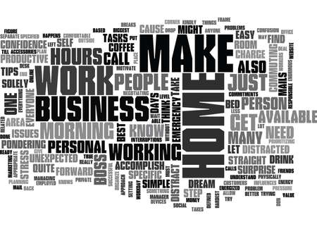 WORK AT HOME BUSINESS TIPS TEXT WORD CLOUD CONCEPT