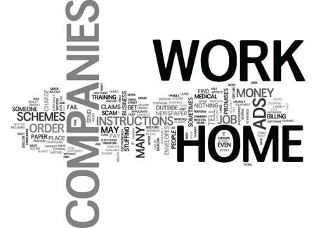 telephone pole: WORK AT HOME COMPANIES TEXT WORD CLOUD CONCEPT