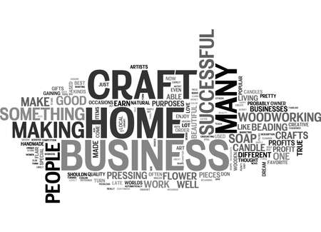 WORK AT HOME CRAFT BUSINESS TEXT WORD CLOUD CONCEPT