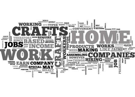 WORK AT HOME CRAFTS TEXT WORD CLOUD CONCEPT