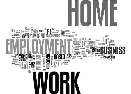 WORK AT HOME EMPLOYMEN TEXT WORD CLOUD CONCEPT