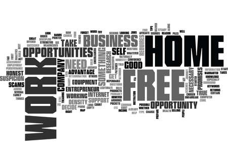 WORK AT HOME FREE TEXT WORD CLOUD CONCEPT Illustration