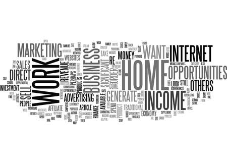 WORK AT HOME INCOME OPPORTUNITIES TEXT WORD CLOUD CONCEPT