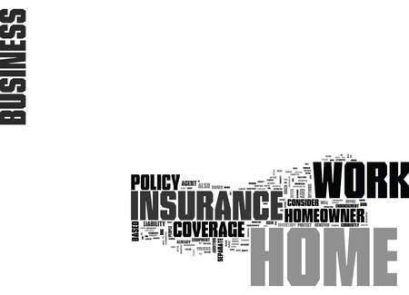 WORK AT HOME INSURANCE TEXT WORD CLOUD CONCEPT
