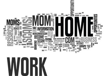 WORK AT HOME MOM SUMMER SURVIVAL GUIDE TEXT WORD CLOUD CONCEPT Illustration