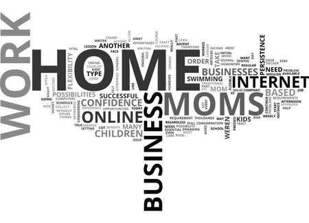 WORK AT HOME MOMS TEXT WORD CLOUD CONCEPT