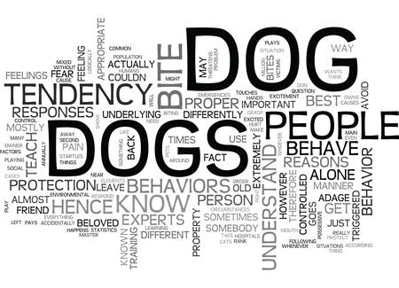 WHAT PEOPLE NEED TO KNOW ABOUT DOG BEHAVIOR TEXT WORD CLOUD CONCEPT